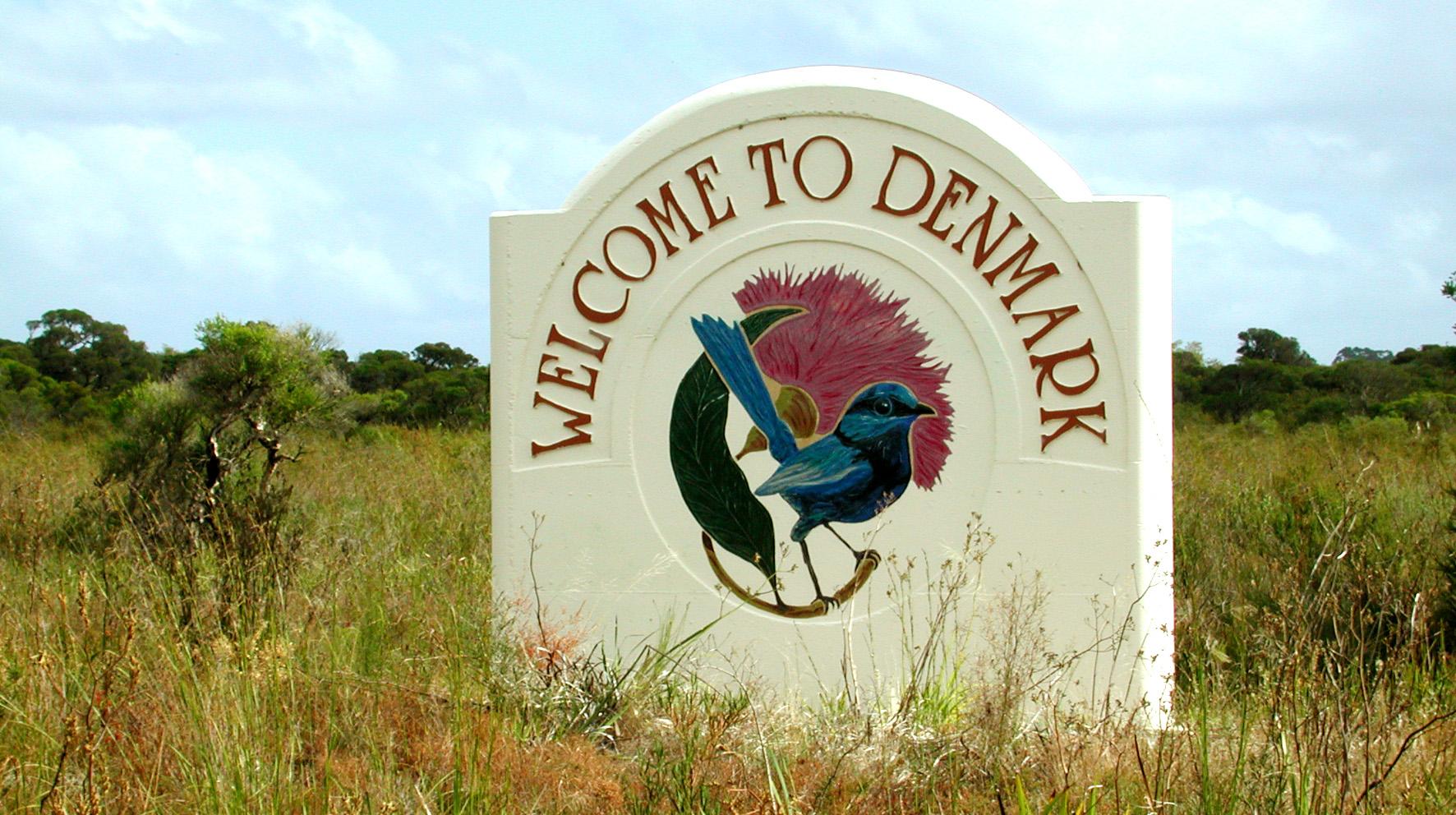 Denmark Town Sign