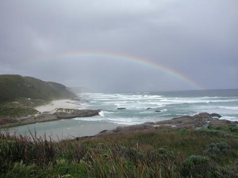 Rainbow over Lights Beach